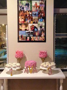 Rosette Dessert Table Pink and Gold Rosette Cupcakes Rosette Cake
