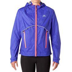 Jackets Running, Trail and Track  - KIPRUN RAIN JACKET BLUE KALENJI - Womens Running