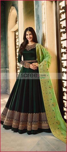 50 Super Ideas For Party Dress Classy Indian Indian Anarkali Dresses, Latest Anarkali Suits, Carolina Usa, Home Design, Party Mode, Party Party, Black White Parties, Heavy Dresses, Suits For Women