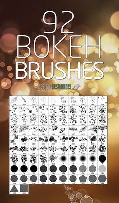 A free set of 92 Bokeh Brushes for Adobe Photoshop. With highest resolution all in one single . Photoshop Tutorial, Actions Photoshop, Free Photoshop, Photoshop Brushes, Photoshop Design, Photoshop Elements, Advanced Photoshop, Gimp Brushes, Photoshop Express