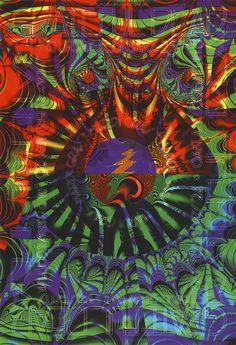 Feb. 24-26, 1995: Grateful Dead, David Murray and Octofunk. Oakland Coliseum, Oakland, CA. Poster art by Arlene Owseichik.