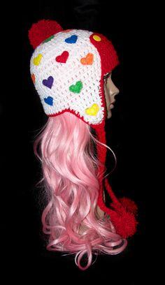 Ear Flap Aviator Bomber Crochet Hat/ Adult Female Size Ready to Ship on Etsy, $23.00
