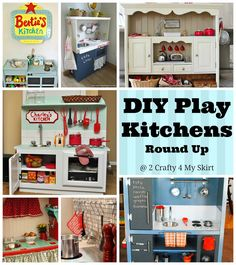 2 Crafty 4 My Skirt: Round Up ~ Adorable DIY Kitchens for Kids