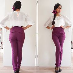 Highwaisted pants by Miss Candyfloss! Check more vintage & retro styles at instagram: @orientalspiceandsomechocolate