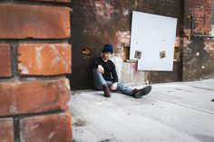 Urban Portrait Photography. Sue Moodie Photography. Old Neighbourhoods. Male Model. Fashion. Urban Adventure.