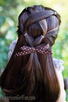 Ilustraciones con peinados geniales para chicas y niñas de pelo largo...