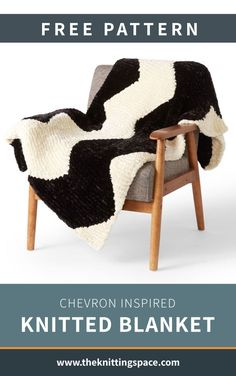 Enjoy a cozy day any day at your favorite spot with this Chevron Inspired Knitted Blanket. Ideal for intermediate knitters to work on, this chevron-inspired blanket that will make for a lovely accent to your home. And it's a thoughtful handmade gift for new home owners. | Discover over 4,500 free knitting patterns at theknittingspace.com #knitpatternsfree #DIY #howtoknitblankets #winterknitting #springknittingproject #summerknits #fallknitting All Free Knitting, Dishcloth Knitting Patterns, Diy Living Room Decor, Knit Pillow, Knitted Blankets, Easy Projects, Chevron, Free Pattern, Inspiration