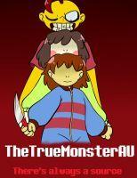 TheTrueMonsterAU comic cover by DeterminedToDrawUT