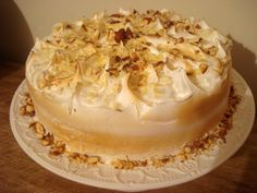 Brigadier cake Sicilian lemon and toasted almonds topped with Italian meringue