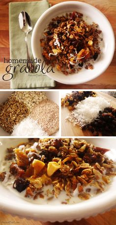 how to make homemade granola - a healthy, yummy, and really easy recipe! | www.livecrafteat.com
