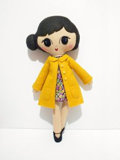 Frankie Retro Felt Softie Doll