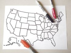 united states america blank map kids adult coloring book page instant download travel map art home printable print digital lasoffittadiste