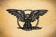 Night Owl Rubber Stamp  2x3 Inches by StandardStampCo on Etsy