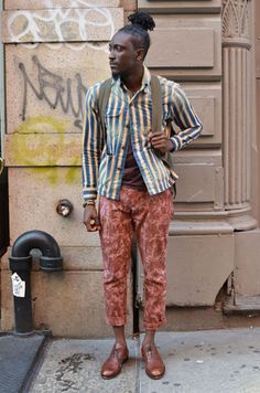 dandy prep with shots of relaxed geek - Joshua Kissi