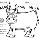 Students draw pictures inside the cow of foods that are made from milk (dairy products).    Use this worksheet as a part of the following lesson plan...