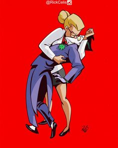 Dr Harleen Quinzel aka Harley Quinn & the Joker - Art by Rick Celis Dc Comics, Batman Comics, Batman And Superman, Bob Kane, Harley Quinn Drawing, Harely Quinn, Joker Art, Joker And Harley Quinn, Gotham City