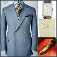BUSINESS STYLE: Paul Stuart(Blazer)-Boss(Watch)-Rota(Slacks)-Bocache Salvucci(Shoes)