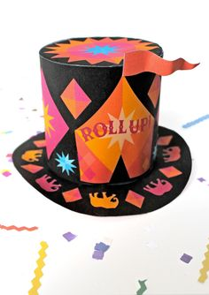 Circus top hat no sew DIY templates. Roll up Roll up, be the ring master! Hat Template, Templates, Circus Crafts, Putting On The Ritz, Black Top Hat, Hat Crafts, Diy Costumes, Halloween Costumes, Cool Art Projects