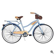Panama Jack Beach Cruiser: Fun and easy bike with a classic design by Huffy which does fine on beach sand or a wooded bike trail. Retro handsome with white wall tires, wood-grain components and cork handles.