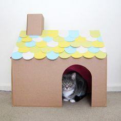 猫が喜ぶ手作りダンボールハウスのアイディア集 | ネコモノ帳                                                                                                                                                                                 もっと見る