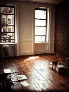 Hardwood floors and open space