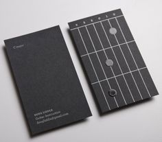 lovely stationery doug liddle guitar instructions 2 620x546 20 Creative Business Card Designs