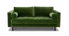 "Sven Grass Green 72"" Sofa - Sofas - Article   Modern, Mid-Century and Scandinavian Furniture"