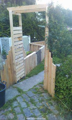 pallet-garden-gate.jpg (660×1100)