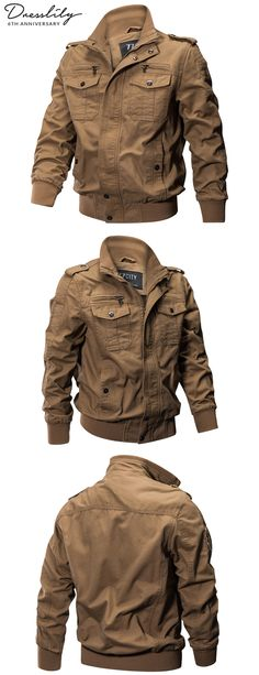 dfd2f49ed900e 77CITY US Size Autumn Cotton Casual Men s Jacket.  dresslily