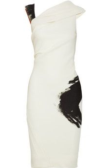 Donna Karan|Artist draped stretch-jersey dress|NET-A-PORTER.COM - StyleSays