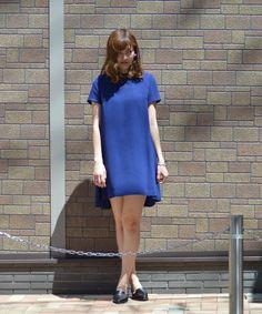 GREED International(グリードインターナショナル)のNEP CLOTH ドレス(ドレス)|ブルー