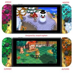 I've Designed These Animal Crossing Joy-Cons One For Every Season