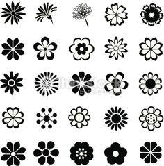Arte vectorial : flower vector set