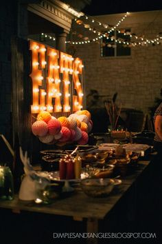 Marquee lights and rustic table ideas for youth room Kids Party Themes, Event Themes, Event Decor, Fall Carnival Games, Carnival Themes, Carnival Lights, Light Up Marquee Letters, Marquee Lights, String Lights