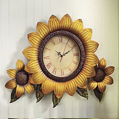 Oversized Sunflower Clock