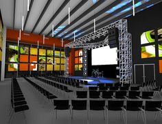 stage with black side walls