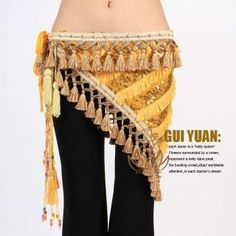 Newest Tribal Belly Dance Costume Dancewear Dress Hip Scarf Belt Wrap 3Colours