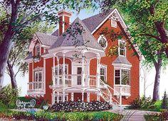 Country Farmhouse Victorian House Plan 65250
