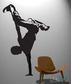 Vinyl Wall Decal Sticker Hip Hop Dance Urban Dancer #375 | Stickerbrand wall art decals, wall graphics and wall murals.