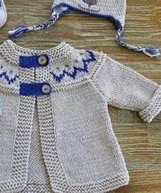 Knitting Models: 2018 Baby Vest Models – Aslı – Join in the world of pin Baby Cardigan Knitting Pattern Free, Baby Hats Knitting, Knitting For Kids, Crochet For Kids, Baby Knitting Patterns, Baby Patterns, Knit Crochet, Knitted Baby Clothes, Knit Baby Sweaters