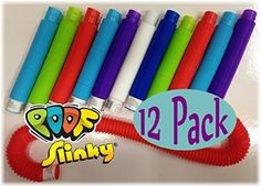 POOF-Slinky Pop Toobs Bundle of 12 - Assorted Colors Pop ...