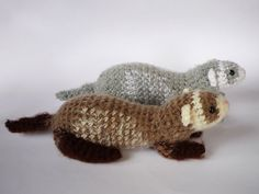 Realistic crocheted ferret plushie by LunasCrafts on Etsy, $25.00