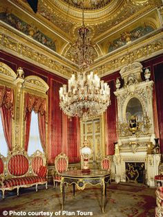 Dolmabahçe Palace, Istanbul, Turkey.  Maybe a little....pink for my liking, but showing the interior anyway.