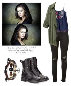 Bone, bling jewelry and prada hayley the originals, vampire diaries outfits, Tv Show Outfits, Fandom Outfits, Fall Outfits, Fashion Outfits, Teen Wolf Outfits, Nerd Fashion, Punk Fashion, Lolita Fashion, Fashion Boots