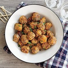 To make ahead, cover and refrigerate unbaked balls up to 24 hours; or place in a heavy-duty zip-top plastic bag and freeze unbaked balls up to 1 month. Bake frozen balls at 375° for 22 to 25 minutes or until done.