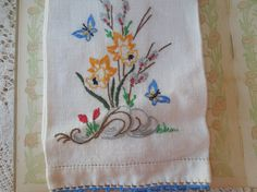 Vintage Flower Daffodil Embroidered Tea or by LemonIceBoxPie, $7.50