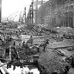 Erection Of The Titanic Arrol Gantry