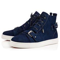 CHRISTIAN LOUBOUTIN Nono Strap Flat Night Suede - Men Shoes - Christian Louboutin. #christianlouboutin #shoes #