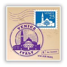 2 x #venice italy mixed stamps vinyl stickers #travel luggage ##10071 , View more on the LINK: http://www.zeppy.io/product/gb/2/162207782701/