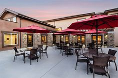 Patio at Paintbrush Assisted Living in Fresno, CA